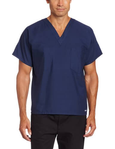 Landau Unisex Scrub Top - 25 Cheap Scrub Sets for Medical Professionals