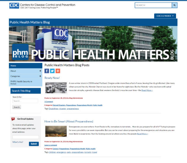 CDC - Best Healthcare Blogs