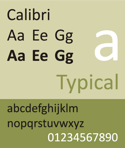 Calibri - The Best & Worst Fonts for Your Resume