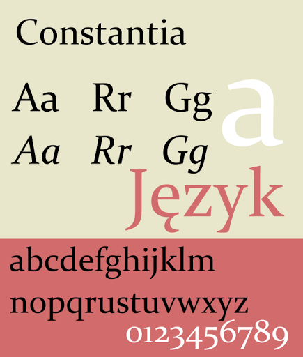 Constantia - The Best & Worst Fonts for Your Resume