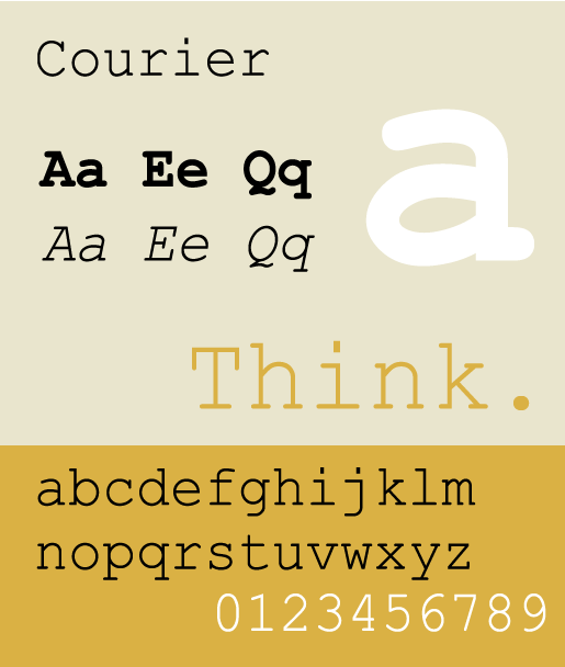 Courier - The Best & Worst Fonts for Your Resume