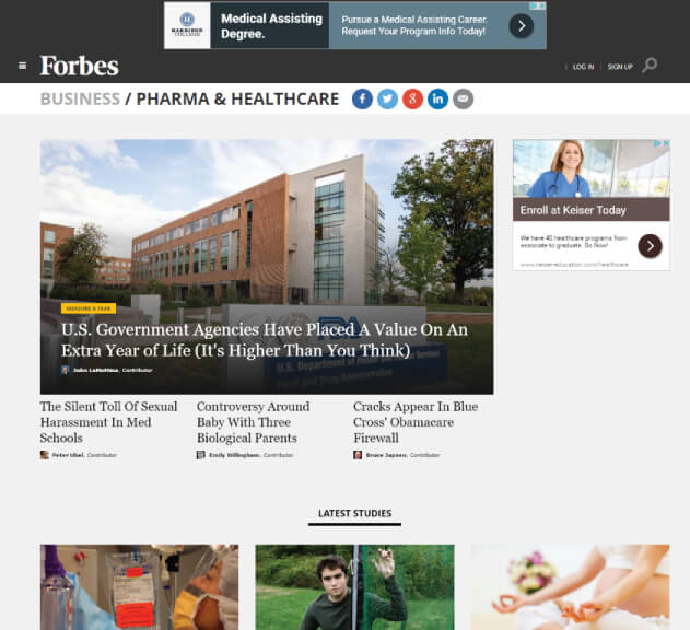 Forbes - Healthcare Blogs