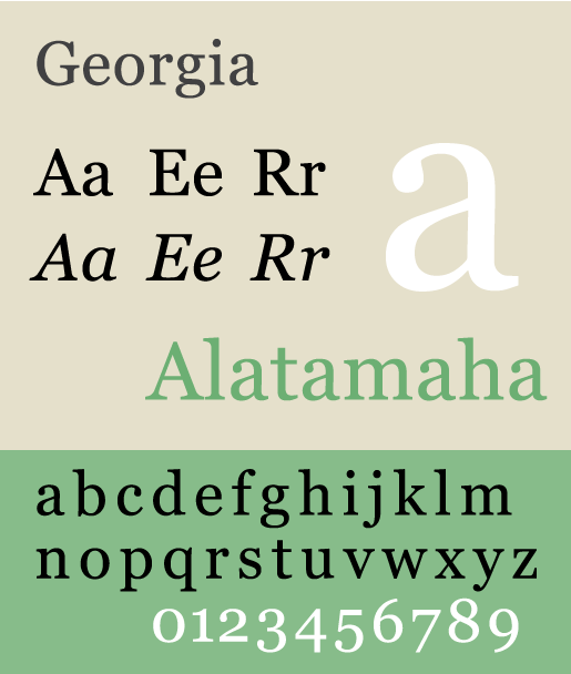 Georgia - The Best & Worst Fonts for Your Resume