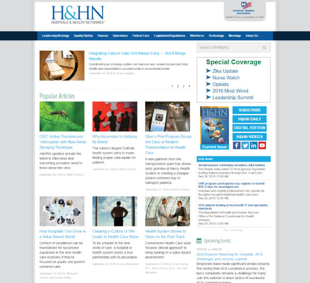 Hospitals & Health Networks - Healthcare Blogs