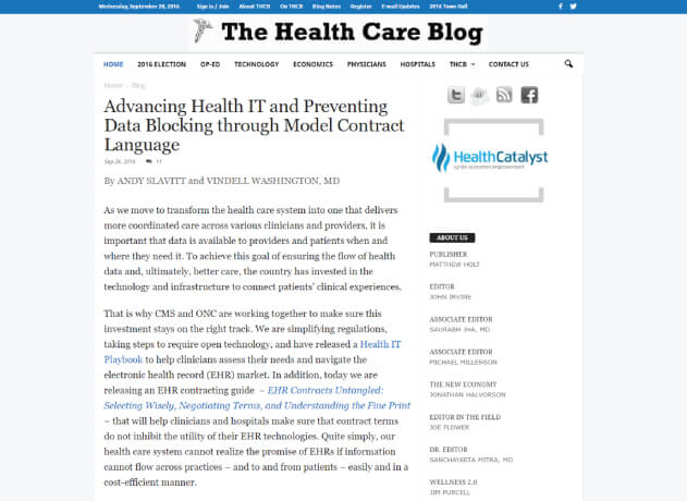 The Health Care Blog - Healthcare Blogs