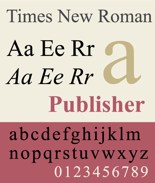 Times New Roman - The Best & Worst Fonts for Your Resume
