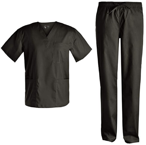 Basic V Neck Nursing Stretch Scrubs - 25 Cheap Scrub Sets for Medical Professionals